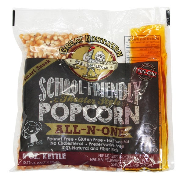Great Northern Popcorn 8 Ounce Popcorn Portion Packs (Case of 24)