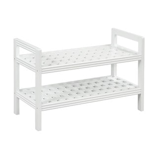 New Ridge Home Beaumont Solid Birch White Finish Wood Bench