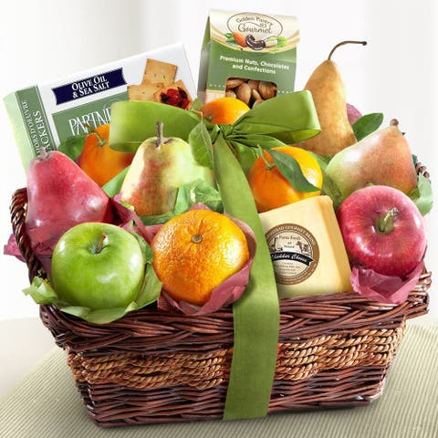 California Fruit Harvest Classic Fruit and Cheese Basket
