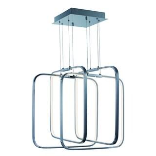 Squared LED Single Pendant Light Fixture