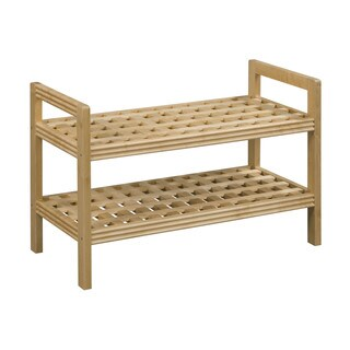 New Ridge Home Beaumont Solid Birch Blonde Finish Wood Bench