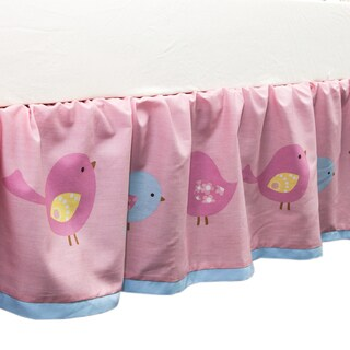 True Baby Sweet Tweet Bed Ruffle in Bird Print