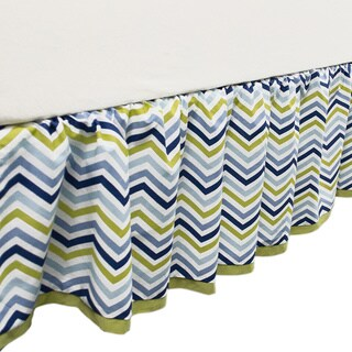 True Baby Space Bot Bed Ruffle Chevron