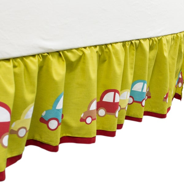 True Baby Hopscotch Bed Ruffle in Car Print