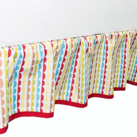 True Baby Hopscotch Bed Ruffle Scallop