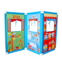 Fun2Give Pop-it-up Zig Zag Puppet Theatre with 4 Hand Puppets