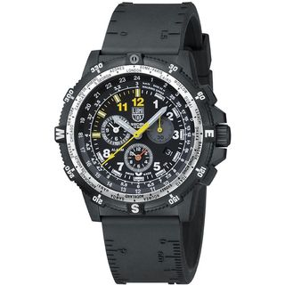 Luminox Men's 8841.KM.SET 'Recon Team Leader' Chronograph Night Vision Extra Nylon Strap Black Rubber Watch