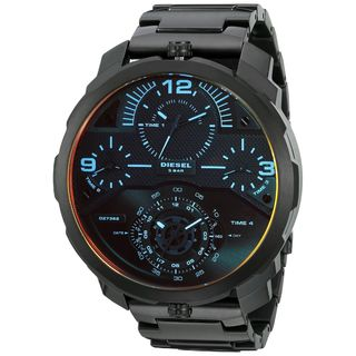 Diesel Men's DZ7362 'Machinus' 4 Time Zones Black Stainless Steel Watch