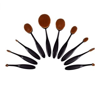 Artist Collection Luxurious 10-piece Oval Makeup Brush Set