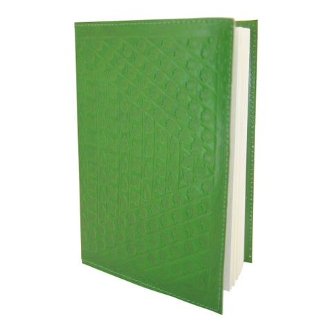 Handmade Refillable Soft Embossed Green Leather Journal (India)