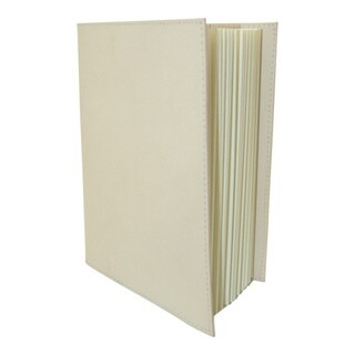 Handmade Off-White Colored Leather Journal (India)