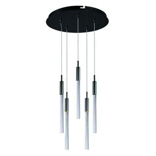 Scepter 5-light LED Black Chrome Pendant Light