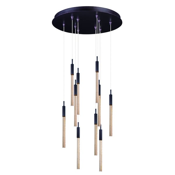 Scepter 10-light LED Bronze Pendant Light