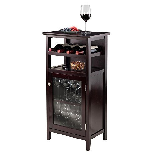 Alta Espresso Wine Cabinet 17 5 Inch Wide X 10 Deep 41 High Free Shipping Today 11712162