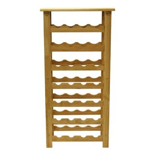 Natural Finish 28 Bottle Wine Rack