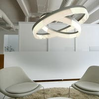 Saturn 1-light LED Bronze Single Pendant Light