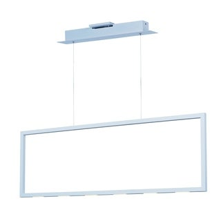 Rhombus LED Modern Matte White Linear Pendant Light