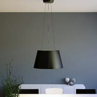 Quantum 2-light LED Contemporary Black Pendant Light