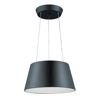 Quantum 2-light LED Black Pendant Light
