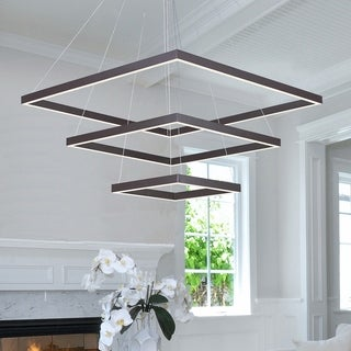 Quad LED Bronze Finished Single Pendant Light