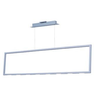 Rhombus LED Matte White Linear Pendant Light