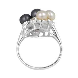 Cluster Pearl Grape Cubic Zirconia .925 Silver Ring (Thailand)