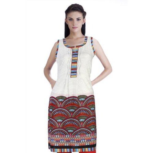 e4d65f5c82f Shop Handmade Meena Bindra Women s Semi-Circle Printed Kurta (India) - Free  Shipping On Orders Over  45 - Overstock.com - 11712233