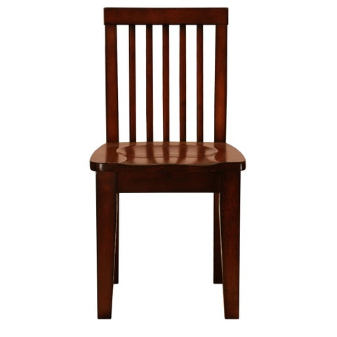 Mahogany Finish Kid Sized Wooden Chair (Set of 2)