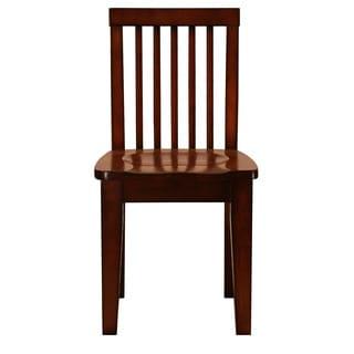 Mahogany Finish Kid Sized Wooden Chair (Set of 2)