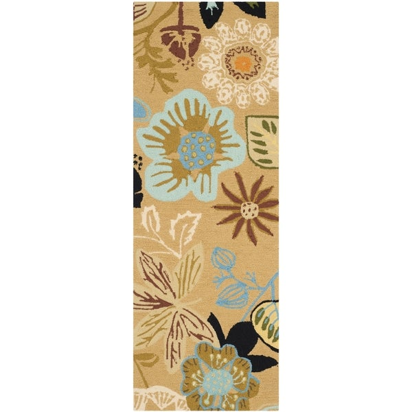 Safavieh Hand-Hooked Four Seasons Taupe/ Multicolored Rug (2' x 6')