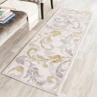 Safavieh Indoor/ Outdoor Amherst Ivory/ Light Grey Rug (2' 3 x 7')