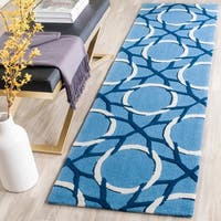 Safavieh Hand-Hooked Four Seasons Blue/ Ivory Polyester Rug - 2' 3 x 8'
