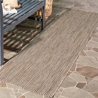 Safavieh Indoor/ Outdoor Courtyard Natural/ Black Rug (2' 3 x 12') - 2'3 x 12'
