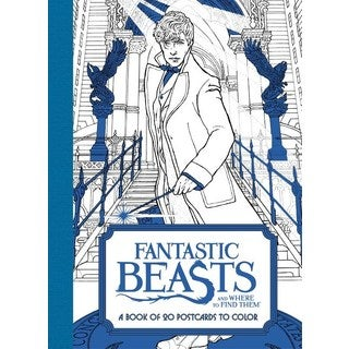 Fantastic Beasts and Where to Find Them: A Book of 20 Postcards to Color (Paperback)