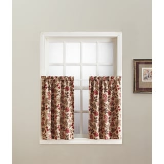Sun Zero Woodland Rod Pocket Room Darkening Window Tier (Pair)