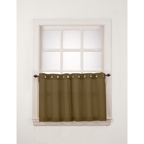 Copper Grove Fox Harbour Grommet Window Tier Pair