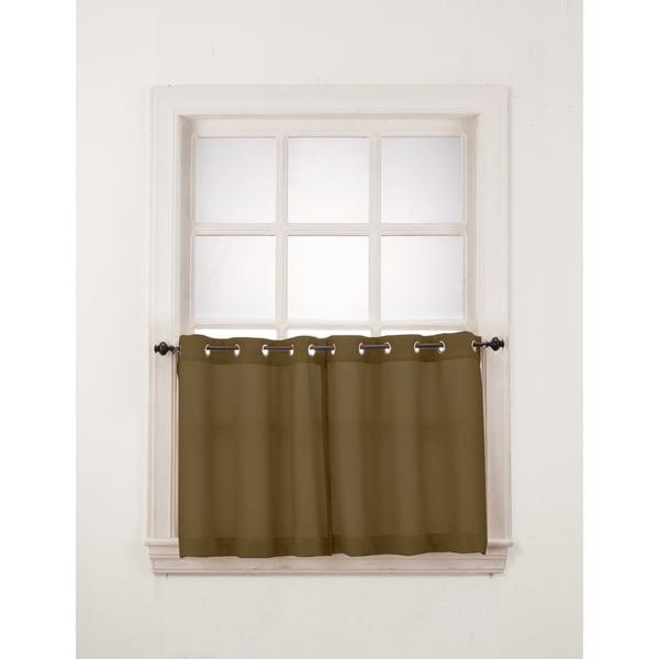No. 918 Montego Grommet Window Tier (Pair) - 18636403 - Overstock.com ...
