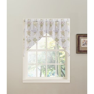 No. 918 Eve's Garden Rod Pocket Window Swag (Pair)