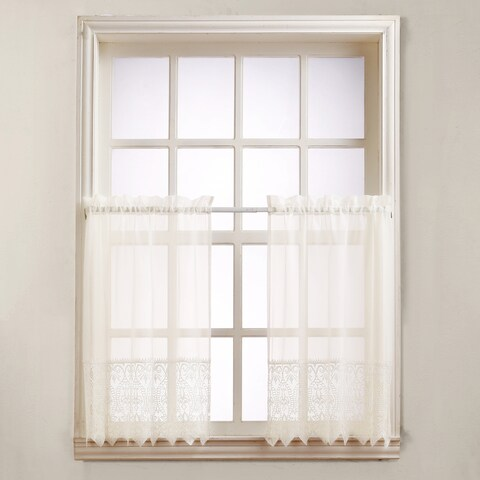 No. 918 Joy Light Kitchen Rod Pocket Window Tier (Pair)
