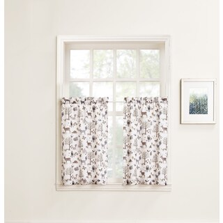 No. 918 Forest Friends Rod Pocket Window Tier (Pair)
