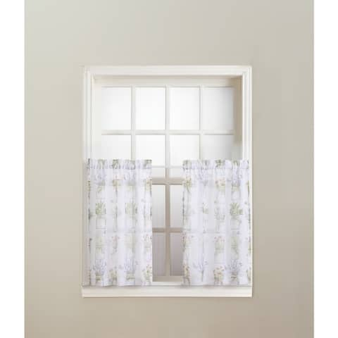 No. 918 Eve's Garden Rod Pocket Window Tier (Pair)