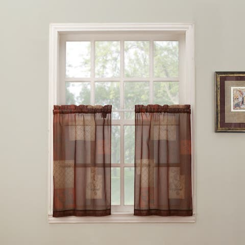 No. 918 Eden Rod Pocket Window Tier (Pair)