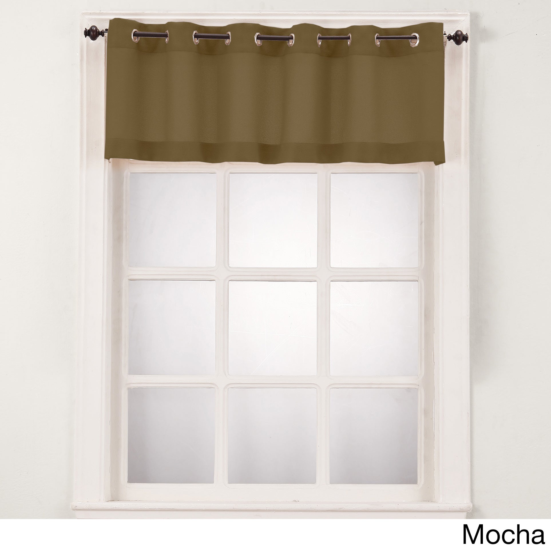 No. 918 Montego Grommet Window Valance (Brown) (100% Poly...