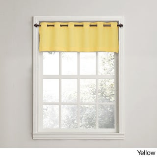 Copper Grove Fox Harbour Grommet Window Valance (56wx14l valance - Yellow)