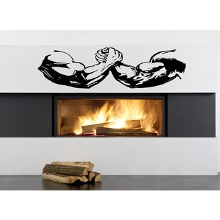 Sport Arm wrestling fight competition Wall Art Sticker Decal