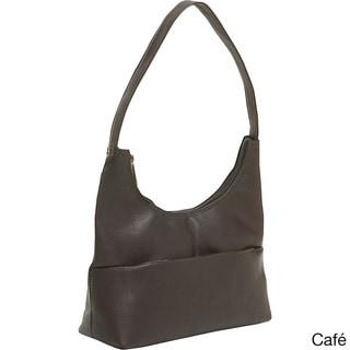 LeDonne Leather Top Zip Hobo Handbag