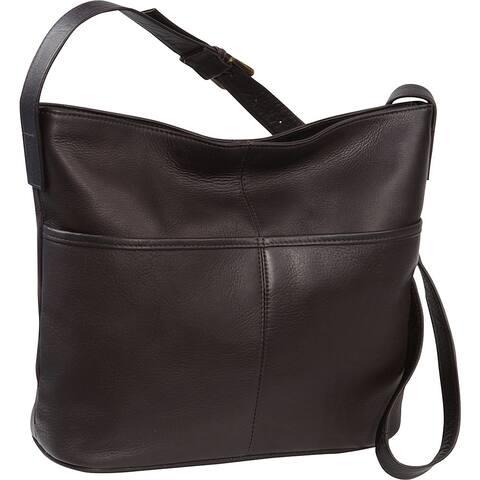 LeDonne Leather Two Slip Pocket Hobo Handbag
