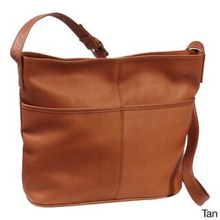 LeDonne Leather Two Slip Pocket Hobo Handbag (Option: Tan)