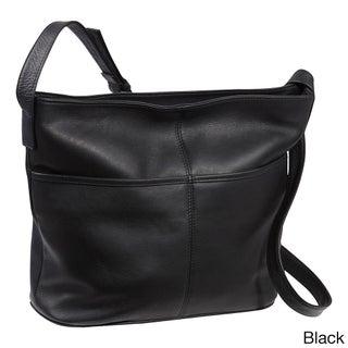 LeDonne Leather Two Slip Pocket Hobo Handbag (3 options available)