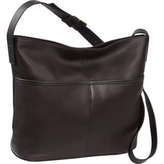 LeDonne Leather Two Slip Pocket Hobo Handbag|https://ak1.ostkcdn.com/images/products/11715015/P18636452.jpg?impolicy=medium
